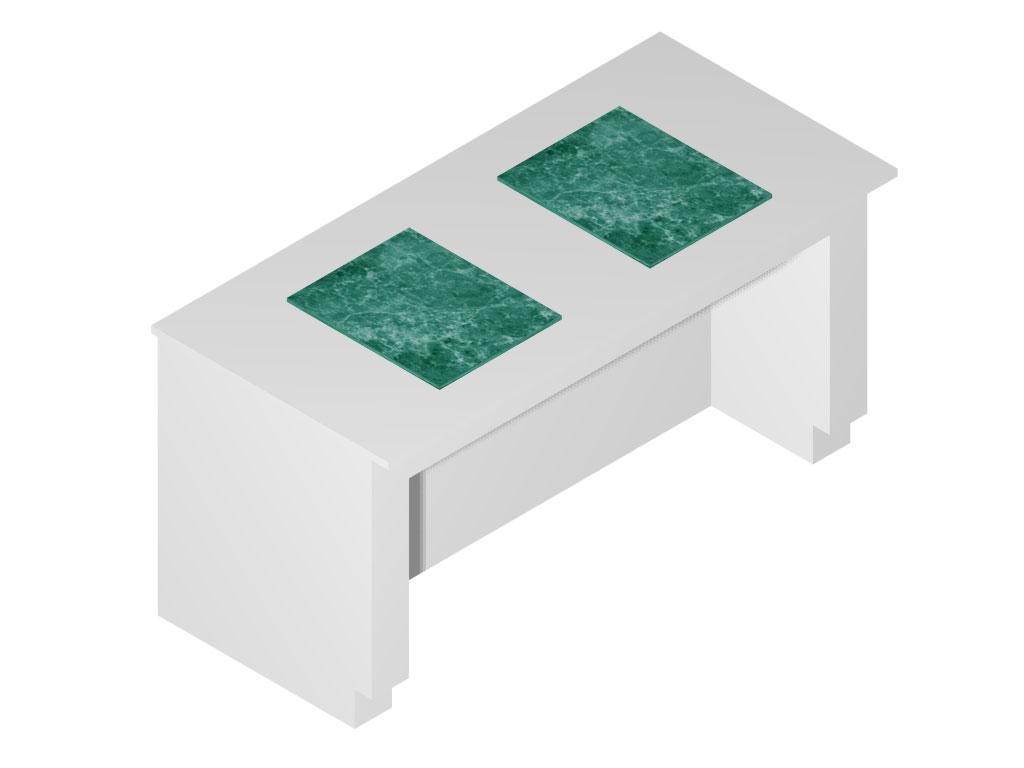 Mesa antivibratória para Laboratório (para 2 balanças)